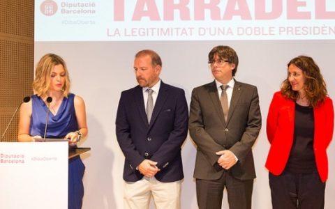 Inauguració de l'Exposició sobre Tarradellas a la Diputació de Barcelona